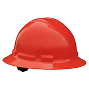 Radians QHP6 Quartz™ Full Brim Hard Hat, 6 Point Pinlock, Red