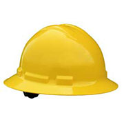 Radians QHR4 Quartz™ Full Brim Hard Hat, 4 Point Ratchet, Yellow