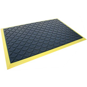 "Rhino Mats Comfort Craft Ultimate Comfort 3/4"" Thick Diamond Anti-Fatigue Mat, 2' x 3' Black/Yellow"