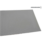 "Rhino Mat 3/16"" Thick Type III Diamond Top Switchboard 3000 Vac Full Roll 36""W x 75' Black - DSB3675"