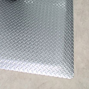 "Rhino Mats Diamond Brite 1/2"" Thick Diamond Pattern Anti-Fatigue Mat, 3' x 5' Reflective Metallic"