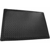 "Rhino Mat 5/32"" Thick Conductive Diamond Table Runner, 48""W Up To 75ft Black - ECD48"