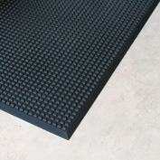 "Rhino Mats Grand Stand 3/4"" Thick Responsive ""Fresh Cut Grass"" Anti-Fatigue Mat, 2' x 3' Black"