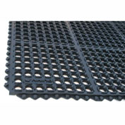 "Rhino Mats K-Series 1/2"" Thick Anti-Fatigue Drain-Thru Mat, 3' x 5' Black - K5-3660B"