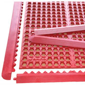 "Rhino Mats K-Series 1/2"" Thick Anti-Fatigue Drain-Thru Mat, 3' x 5' Red - K5-3660RKIT"