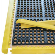 "Rhino Mats K-Series 1/2"" Thick Anti-Fatigue Drain-Thru Mat, 39"" x 58"" Black - K9-3958BYKIT"