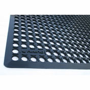 "Rhino Mats K-Series 1/2"" Thick Anti-Fatigue Drain-Thru Mat, 3' x 5' Black - KCT3660"