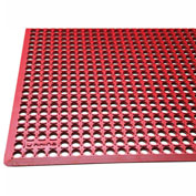 "Rhino Mats K-Series 1/2"" Thick Anti-Fatigue Drain-Thru Mat, 3' x 5' Red - KCT3660R"