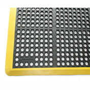 "Rhino Mats K-Series Premium 7/8"" Thick Anti-Fatigue Drain-Thru Mat, 40"" x 124"" Black - KST4124Y"