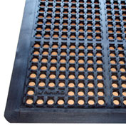 "Rhino Mats K-Series Premium 7/8"" Thick Anti-Fatigue Drain-Thru Mat, 40"" x 64"" Black - KST4064B"