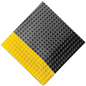 "Rhino Mats Reflex 1"" Thick Raised Domed Interactive Surface Anti-Fatigue Mat, 2' x 3' Metal/Yellow"