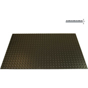 "Rhino Mat 1/4"" Thick Class 2 Diamond Switchboard 17000 Vac, Full Roll 36""W x 75ft Black - SBD43675"