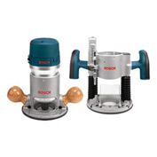 BOSCH® 1617EVSPK, 2.25 HP Combination Plunge & Fixed-Base Router Pack