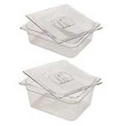 Rubbermaid Commercial FG125P00 Clr Cold Food Container 9-1/3 Quarts Package Count 6 by Food Containers