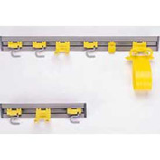 "Rubbermaid® 18""W Closet Organizer/Tool Holder, 2 S-Hooks 1 Double Hook - RCP199200GY - Pkg Qty 6"