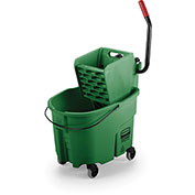 Rubbermaid WaveBrake® Side Press Mop Bucket & Wringer Combo - Green