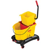 Rubbermaid Wavebrake® 35 Qt. Dual-Water Bucket/Wringer W/ Side Press, Yellow - RCP768000YW