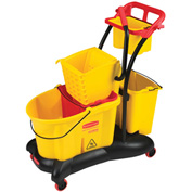Rubbermaid Wavebrake® 7780 Mopping Trolley w/Side Press, 35 Qt. Yellow