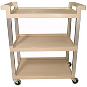 Rubbermaid® 9T65-71 Three-Shelf Beige Service Cart