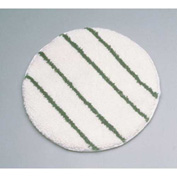 "Rubbermaid® 17"" Low Profile Scrub Strip Yarn Carpet Bonnet, White/Green - RCPP267"