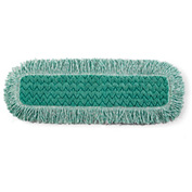 "Rubbermaid® HYGEN 24"" x 9"" Microfiber Dust Mop W/ Fringe, Green 6/Pack - RCPQ42600GR00"