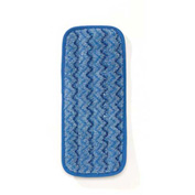 "Rubbermaid® Microfiber Wall/Stair Wet Mop Pad 13-3/4"" x 5-1/2"", Blue 6/Pack - Q820"