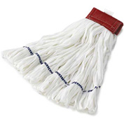 Large Rough Floor Looped-End Cotton/Synthetic Wet Mop Head, White 12/Pack RCPT256