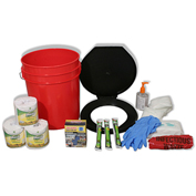 Ready America® 71641 Toilet Bucket Kit, 4-10 persons
