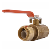 SharkBite 22186-0000LF Ball Valve, Inline, Push-Fit, 3/4in, 200 psi - Pkg Qty 6