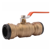 SharkBite SBBV35 Ball Valve, DZR Brass, Push-Fit, 1-1/4in