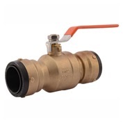 SharkBite SBBV41 Ball Valve, DZR Brass, Push-Fit, 1-1/2in