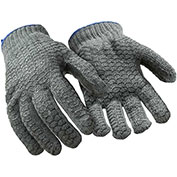 Value Honeycomb Grip Glove, Gray - Large - Pkg Qty 12