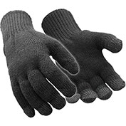 RefrigiWear Thermal Touchscreen Gloves, Black, L/XL, 1 Pair