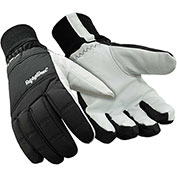 RefrigiWear® 0243RBLKLAR, Nylon and Goatskin Gloves, Large