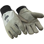 Dipped Deerskin Glove, Gray - Large