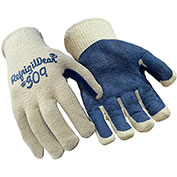 Palm Coated String Grip Glove, White & Blue - Large - Pack of 12