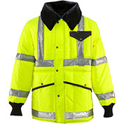 HV HiVis™ Jackoat™ Regular, HiVis Lime-Yellow with Reflective Tape - 5XL