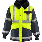 RefrigiWear Iron-Tuff™ Jackoat™, Black/HiVis Lime, -50° Comfort Rating, 5XL Tall