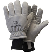 RefrigiWear Deertex™ Synthetic Leather Gloves, Gray, -20°F Comfort Rating, L