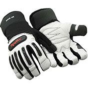RefrigiWear® 0353RWHTLAR, Ergo Insulated Goatskin Gloves, Large