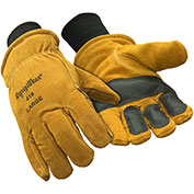 Double Insulated Cowhide Glove, Gold - Large