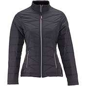 RefrigiWear® 0423RBLKMED, Women's Softshell Quilted Jacket, Black, Medium
