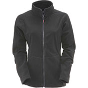 RefrigiWear Women's Fleece Jacket, Black, 30°F Comfort Rating, 4XL