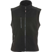 RefrigiWear Fleece Vest, Black, 20°F Comfort Rating, 5XL