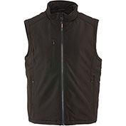RefrigiWear Insulated Softshell Vest Regular, Black, Large