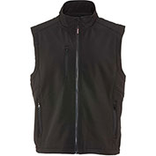 RefrigiWear Softshell Vest, Black, 20°F Comfort Rating, 3XL