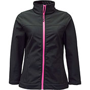 RefrigiWear Women's Softshell Jacket, Black, 20°F Comfort Rating, 2XL