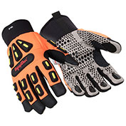 RefrigiWear® 0579RHVOLAR, Insulated HiVis™ Impact Protection Gloves, Large