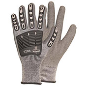 RefrigiWear® Ergo Impact Glove, Gray, Medium, 1208RGRAMED