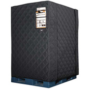 "RefrigiWear RW Protect Insulated Pallet Cover 150PCBLK48P Black - 48"" x 40"" x 48"""